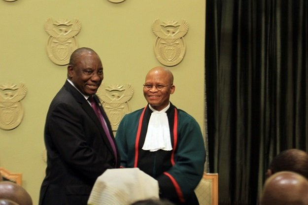 Ramaphosa pays tribute to outgoing Chief Justice Mogoeng