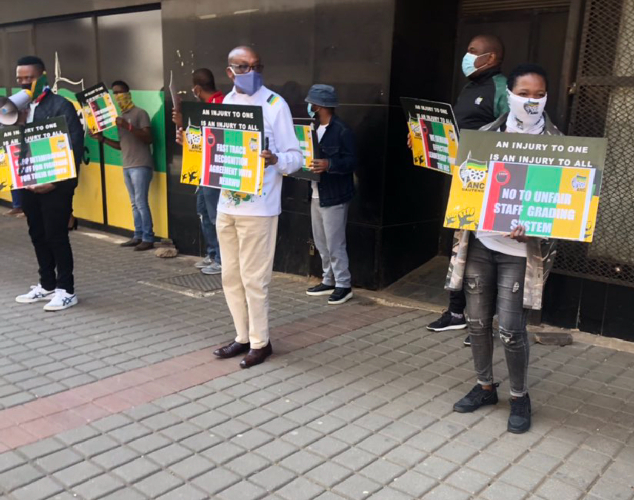 ANC employees picket over unpaid salaries